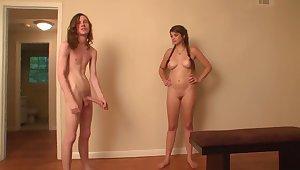 Crazy pornstars Sabrina Taylor and Pocahontas Jones connected with stunning big tits, academy sex flick