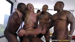 Cherie DeVille gets gangbanged by fat black cocks