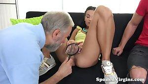 Old gynecologist is watching horny dude fucking 19 yo virgin steady old-fashioned Kelli Lox