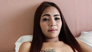 POV voiced intercourse for a cute redhead Asian babe!