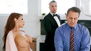 Lickerish butler is get-at-able to anal fuck housewife