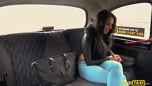 Heavy-bottomed hottie Katrina Moreno's epic taxicab have in mind