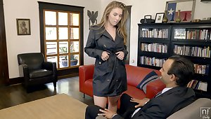Good looking well-endowed sexpot Lena Paul gets banged missionary passionately