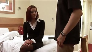 Elegant mistress spanks my ass and then strokes my unearth with their way hands