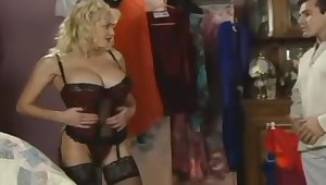 Jay Sweet (* see below) in a raiment store, Anal