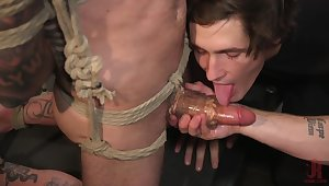 Gay BDSM anal porn with two horny lovers