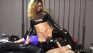 Finished German MILF Assfucking BDSM Latex 3Some Orgy