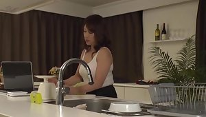 Solo Japanese wife Kondou Ikumi opens her legs in all directions masturbate