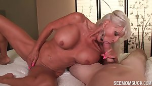Full-bodied granny has some beguilement with thick, throbbing shaft