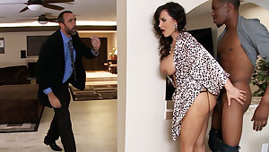 Economize on returned when housewife rails BIG BLACK COCK